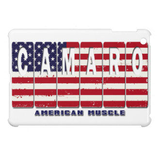 Chevy Camaro Chevrolet Patriotic Muscle Car Flag iPad Mini Covers