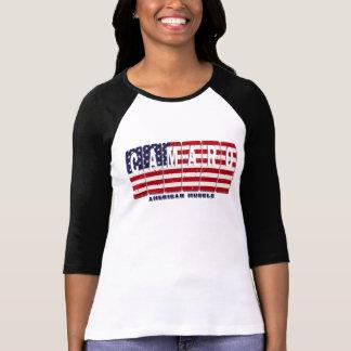 Chevy Camaro Chevrolet Patriotic Muscle Car Flag T-Shirt