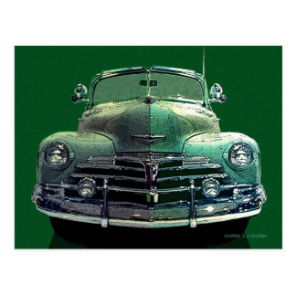 Chevy Convertible Postcard