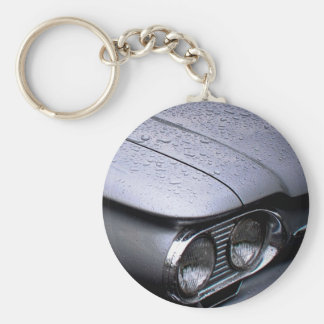 Chevy Corvair button Keychain