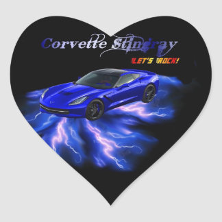 Chevy: Corvette Stingray 2013 Heart Sticker