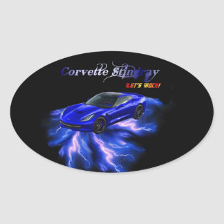Chevy: Corvette Stingray 2013 Oval Sticker