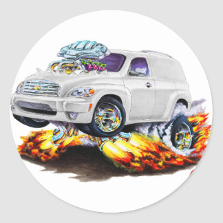 Chevy HHR White Panel Truck Classic Round Sticker
