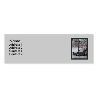 Chevy in the Snow Profile Card Mini Business Card