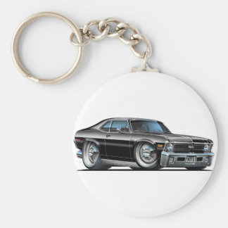 Chevy Nova Black Car Keychain