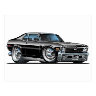 Chevy Nova Black Car Postcard