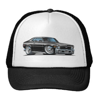 Chevy Nova Black Car Trucker Hat