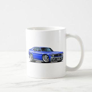 Chevy Nova Blue Car Basic White Mug