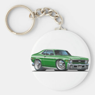 Chevy Nova Green Car Basic Round Button Keychain