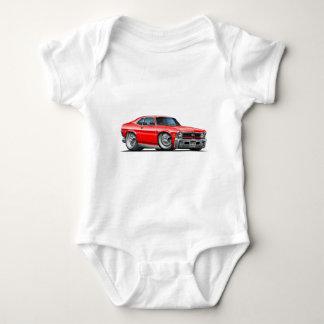 Chevy Nova Red Car Baby Bodysuit