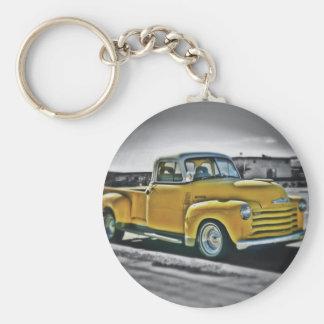 Chevy pick UP Basic Round Button Keychain