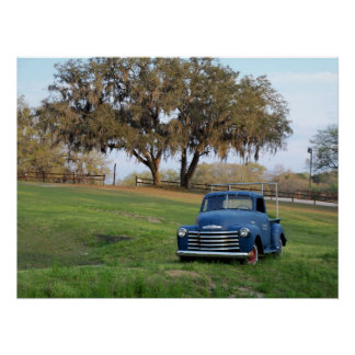 Chevy Pickup Truck Chevrolet Country Truck Photo Poster