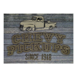 Chevy Pickups Poster