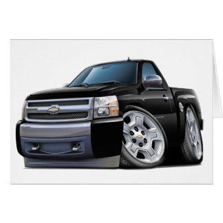 Chevy Silverado Black Truck Card