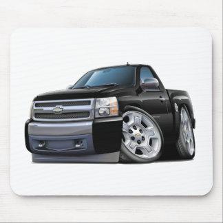Chevy Silverado Black Truck Mouse Pad