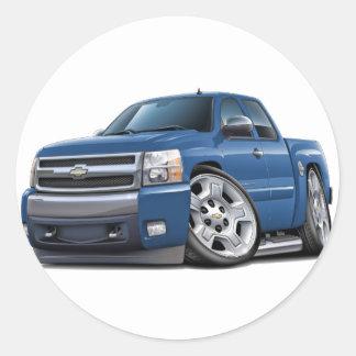 Chevy Silverado Blue Granite Extended Cab Classic Round Sticker