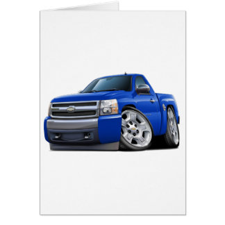 Chevy Silverado Blue Truck Card