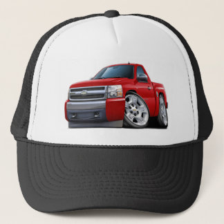 Chevy Silverado Red Truck Trucker Hat