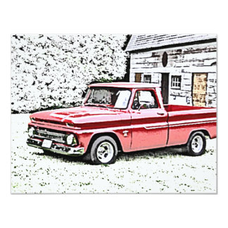 "Chevy Truck 4.25"" X 5.5"" Invitation Card"