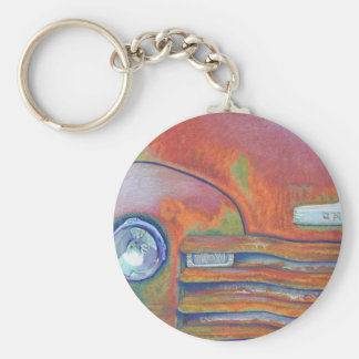 Chevy Truck Basic Round Button Keychain