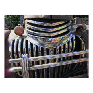 CHEVY TRUCK CHROME GRILL  1946 POSTER