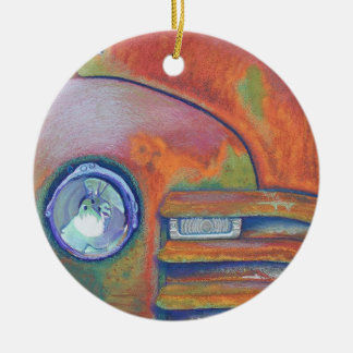Chevy Truck Round Ceramic Ornament