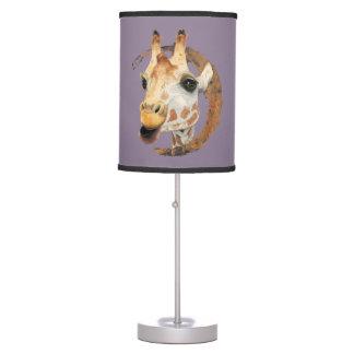"""Chew"" 2 Giraffe Watercolor Painting Table Lamp"