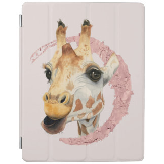 """Chew"" 3 Giraffe Watercolor Painting iPad Cover"