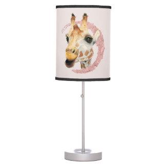 """Chew"" 3 Giraffe Watercolor Painting Table Lamp"