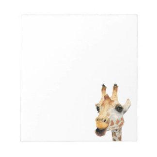 """Chew"" Giraffe Watercolor Painting Notepad"