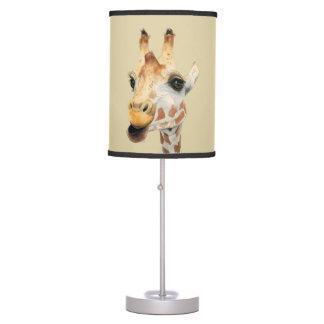 """Chew"" Giraffe Watercolor Painting Table Lamp"