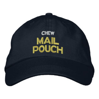 Chew Mail Pouch Embroidered Hat