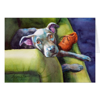 Chew Shoe, Terrier on the Couch Card