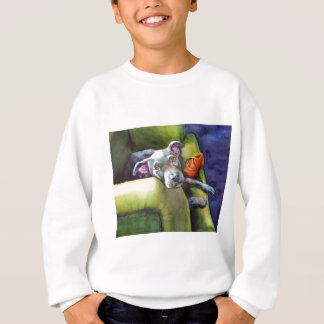 Chew Shoe, Terrier on the Couch Sweatshirt