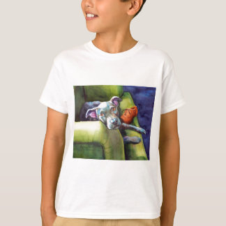 Chew Shoe, Terrier on the Couch T-Shirt