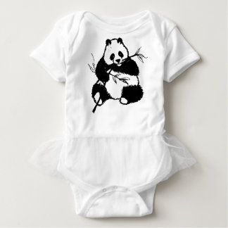 Chewing Panda Baby Bodysuit