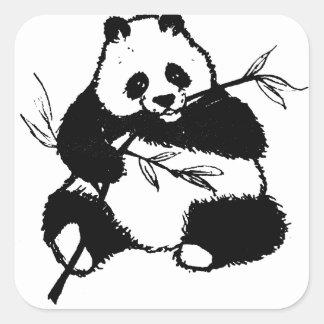 Chewing Panda Square Sticker