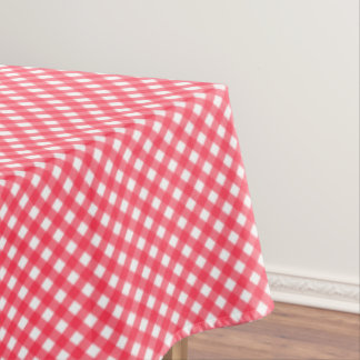 CHEX 7-WATERMELON RED-COTTON TABLECLOTH 60x104in