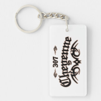 Cheyenne 307 Single-Sided rectangular acrylic keychain
