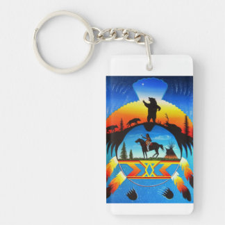 cheyenne Double-Sided rectangular acrylic keychain