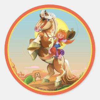 Cheyenne & Hoss Round Sticker