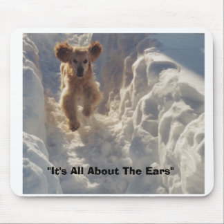 "cheyenne in snow, ""It's All About The Ears"" Mouse Pad"