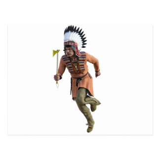 Cheyenne Warrior Chief Running Postcard