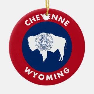 Cheyenne Wyoming Ceramic Ornament