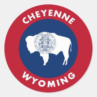 Cheyenne Wyoming Classic Round Sticker