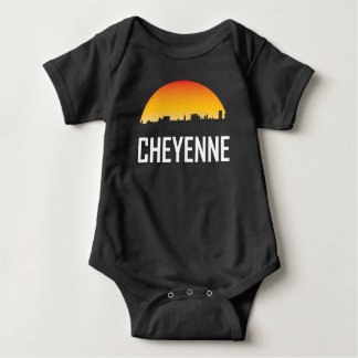 Cheyenne Wyoming Sunset Skyline Baby Bodysuit