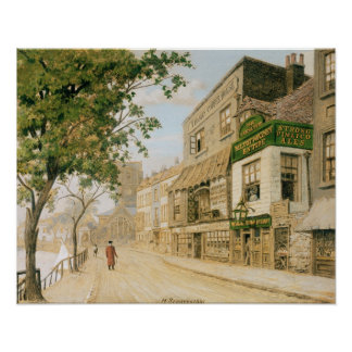 Cheyne Walk, Chelsea, 1857 Poster