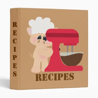 Chez Piggy Recipe Binder