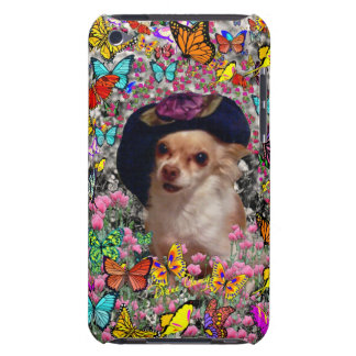 Chi Chi in Butterflies  - Chihuahua Puppy in Hat iPod Case-Mate Case