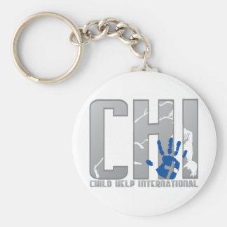 CHI Logo Gear Basic Round Button Keychain